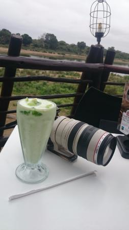 A table on the veranda will give you the best view. Binoculars and camera will always come in ha