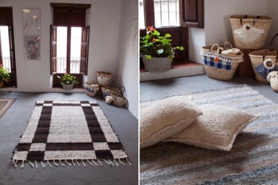 reciclaje decoracion alfombras y cojines