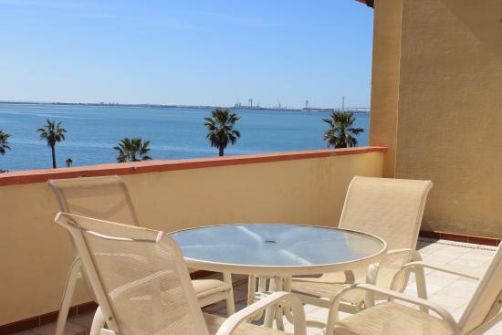 Apartamentos Puerto Sherry: Terrace