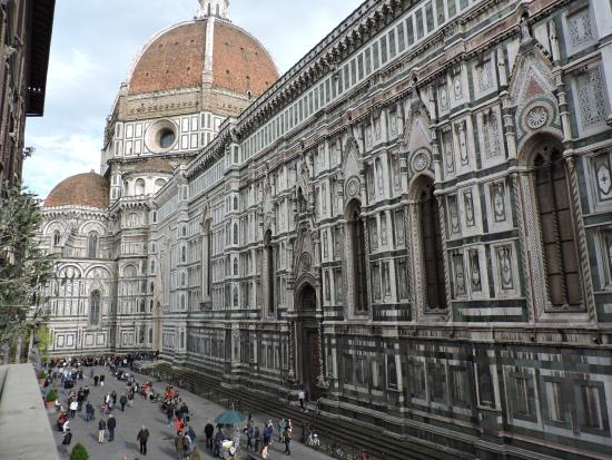 European Castles Day Tours: View from our balcony in Florence.
