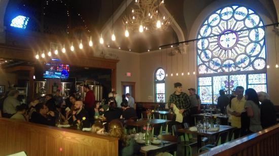 Saline, MI: Interior- bar area in background