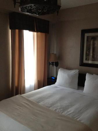 Ye Olde English Inn: One of the smaller guest rooms. New flat screens in every room. Some are suites with huge sittin