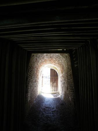 Avaldsnes, النرويج: A small tunnel leading from the mine road into an abandoned open mine