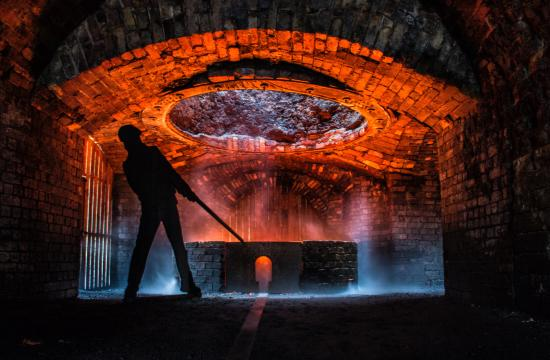 Brecon, UK: this was taken on the heritage day, inside the iron works