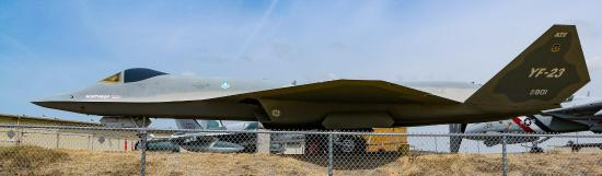 Western Museum of Flight: Gray Ghost, YF-23 (Note Enclosed Area...Ask at museum to access.)