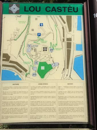 Map of the park Elevator is in lower left corner Picture of