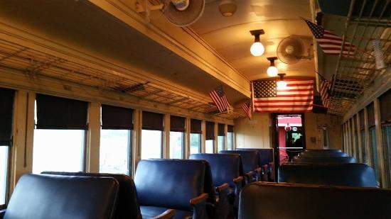 Belton Grandview and Kansas City Railroad: interior of car