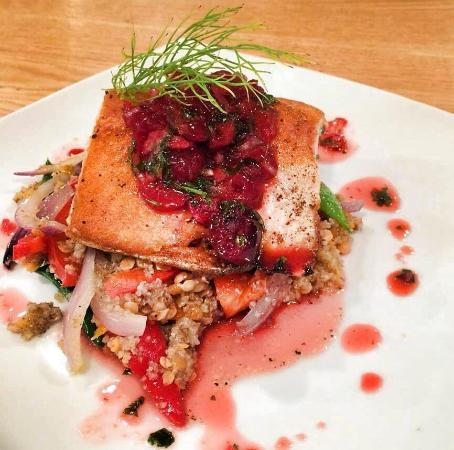 Summerville, Canadá: Sustainable Blue salmon is delicious, local, sustainable and did we mention, delicious.