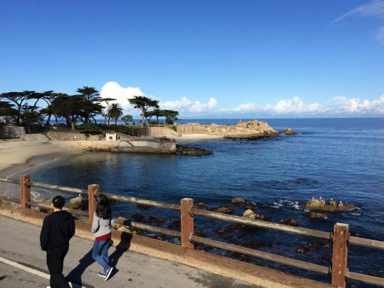 Lovers Point: Lover's Point Cove and Lover's Point from Ocean View Blvd.