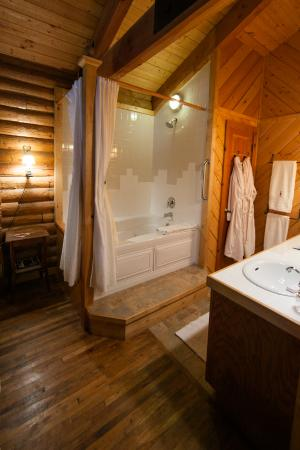 Fawnskin, Califórnia: Lakeview Suite bathroom