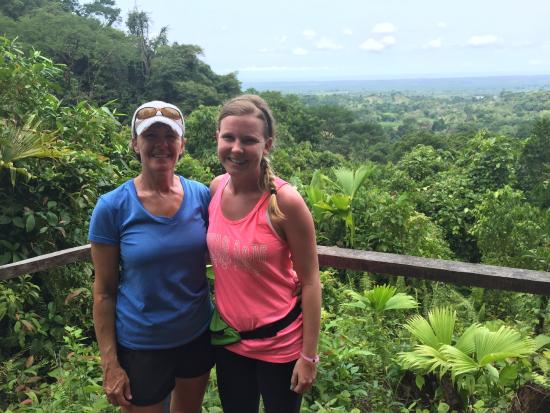 Costa Rica Jade Tours: Photo from the top of the trail. Clearly am a little sunburned from the day before!
