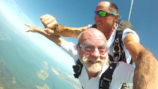 Skydive South Texas on Mustang Island: Ron Edwards on his 74th