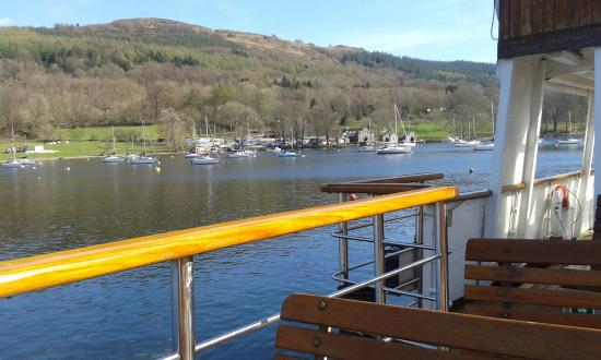 Bowness-on-Windermere, UK: view from the boat on the lake