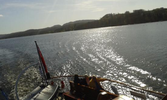 Bowness-on-Windermere, UK: looking backwards from the boat