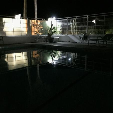 Sagewater Spa: the pool at night