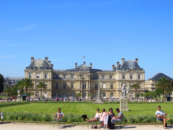 Palais du luxembourg foto di giardini del lussemburgo parigi