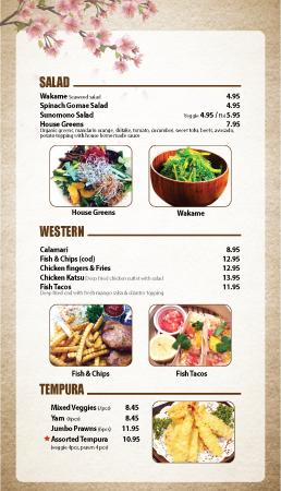 Courtenay, كندا: Osaka Sushi new menu