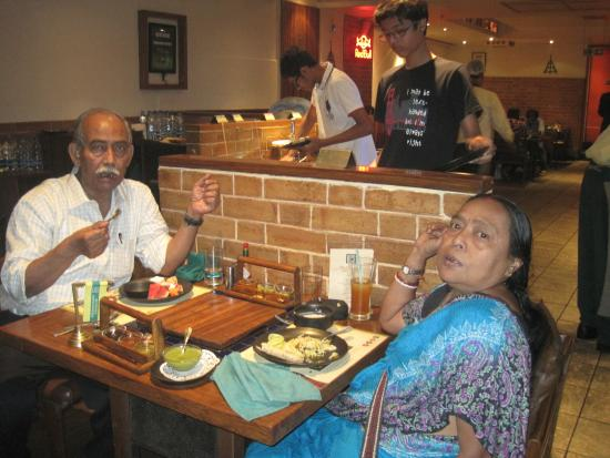 Reviewer With Wife Picture Of Barbeque Nation Salt Lake