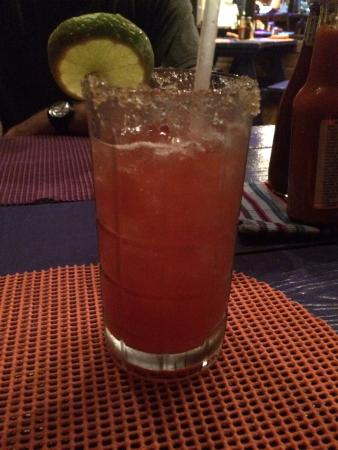 Mango: Strawberry Margarita with Brown Sugar Rim