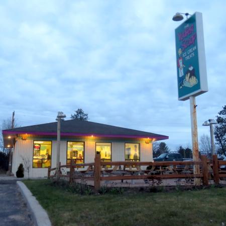 Gwinn, MI: The Yooper Scoop at dusk.