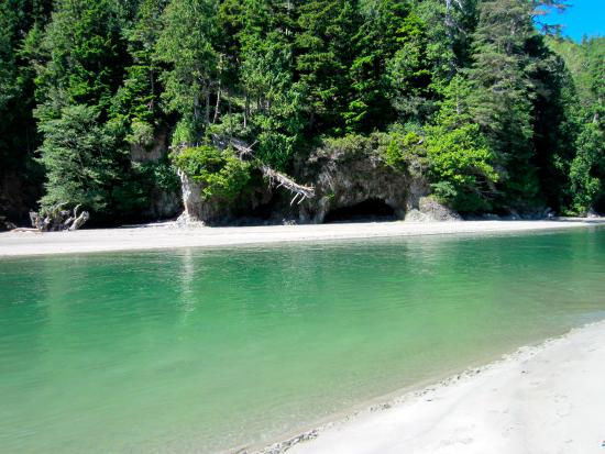 Pachena Bay Campground: River and caves