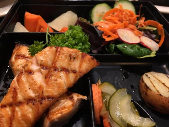 Shioyaki salmon picture of kintaro japanese restaurant for Asian cuisine kauai