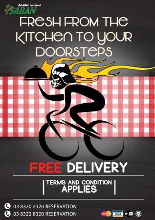 Free Delivery Service Picture Of Sysaban Restaurant