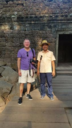 Angkor Guide Sopanha Private Tours: Sopanha with my husband at Ta Prohm