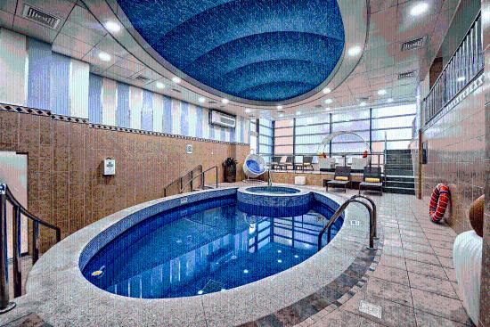 Hotel indoor pool  Indoor Swimming Pool - Picture of Saraya Corniche Hotel, Doha ...