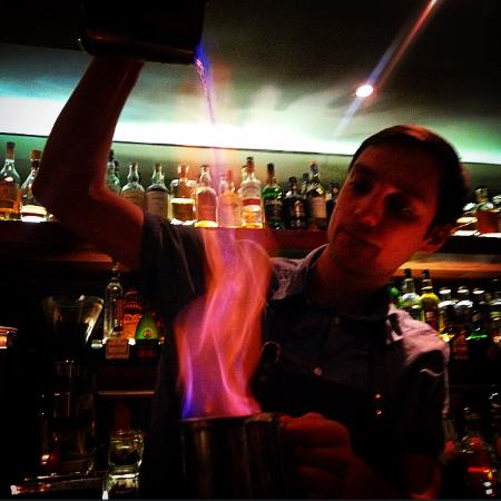 Flame cocktail