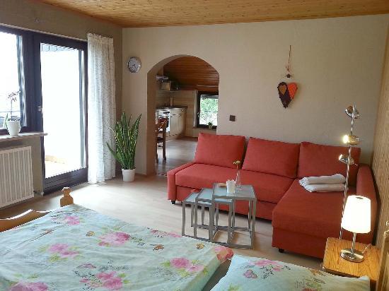 Wohn-Schlafzimmer - kleine Ferienwohnung - Bild von Haus Lange ...
