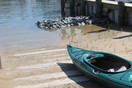 Tilghman, MD: their new kayak launch 2016
