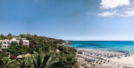 Hotel Simius Playa: Panoramica hotel fronte mare