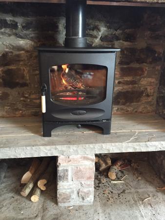 The Clarence Inn: New log burner