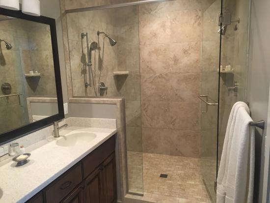 Two Thirty-Five: Luxury Suites: Luxury double-showerhead shower