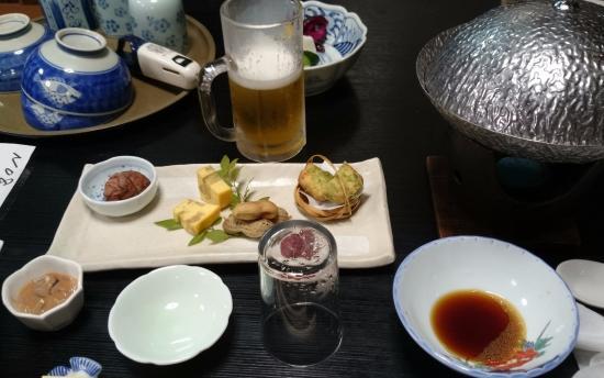 Marunaka: 夕食、最初の料理