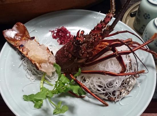 Marunaka: 夕食の伊勢海老