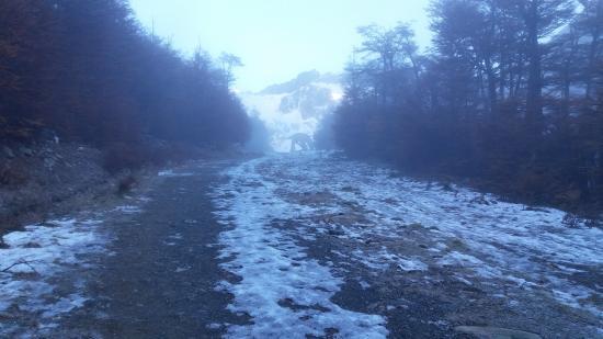Province of Tierra del Fuego, Argentina: Subida al glaciar por la pista de ski