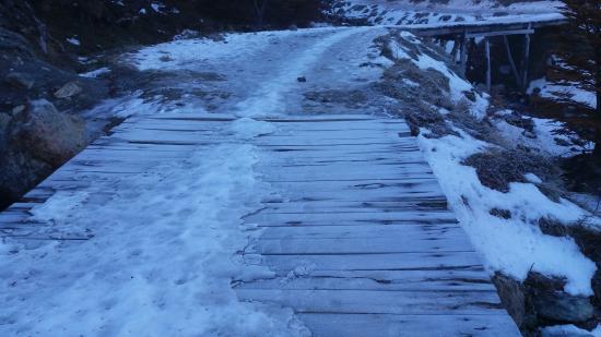 Glaciar Martial: Final de la pista de ski