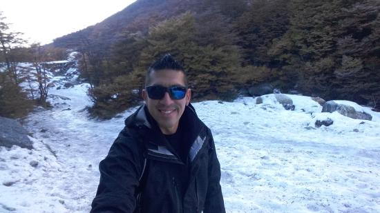 Glaciar Martial: Camino al glaciar (la pista de ski atrás)