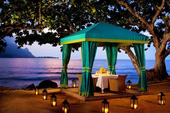 St. Regis Princeville Resort: Dinner Cabana