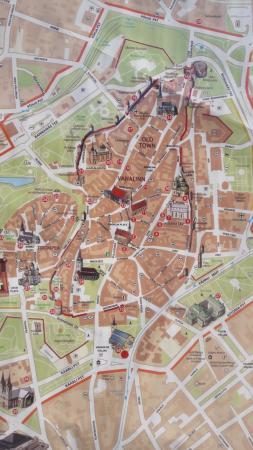 Mapa da parte medieval Picture of Tallinn Old Town Tallinn