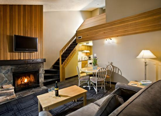 Tunnel Mountain Resort: One Bedroom Plus Loft Suite Living Area