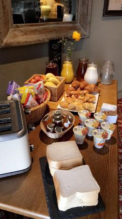 Hardstoft, UK: Morning breakfast