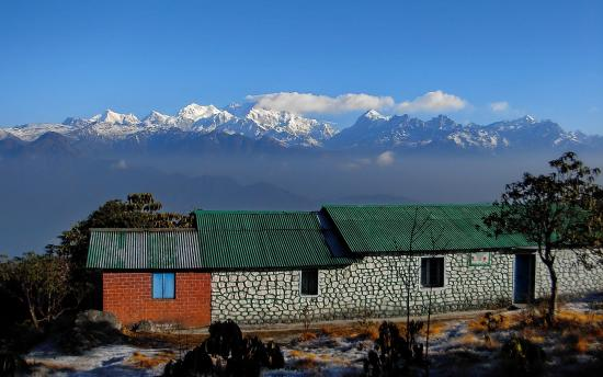 West Sikkim, Indie: view of kanchenjunga from barsey