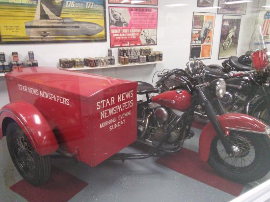 American Classic Motorcycle Museum : They have several cycles used for work, including sidecars
