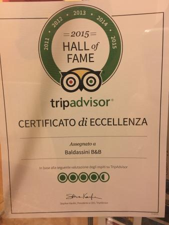 Baldassini B&B: Trip Advisor Hall of Fame