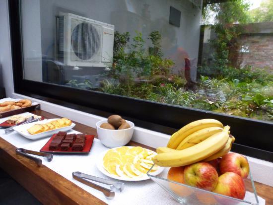 Posada Las Terrazas: Desayuno rico, abundante y variado.