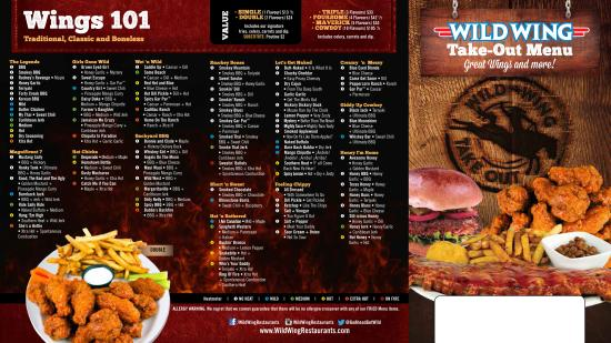 Wild Wing Gravenhurst Take Out Menu 2 - Picture of Wild Wing ...