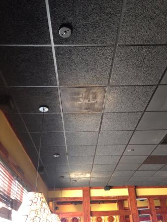 Saraland, AL: This vent is in front of the bar, visible to everyone including the bartender and manager.